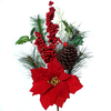 Decorative twig with poinsettia S601